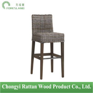 Natural Rattan Wicker Bar Stool Counter Chair Cesar in Gray pictures & photos