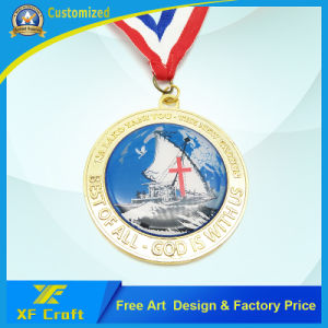 Professional Customized Metal Enamel Souvenir Sports Medal for Football Game (XF-MD03) pictures & photos