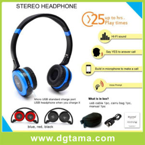 New-Unique Fashion Foldable Stereo Bluetooth Headset with CSR-Chipset for Cellphone/Phone pictures & photos