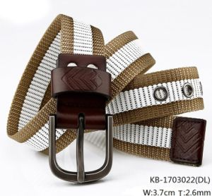 New Fashion Men Woven PU Belt (KB-1703022) pictures & photos
