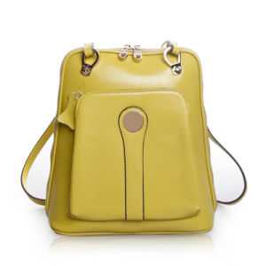Lady Leather Travel Bag Desinger School Bag Fashion Brand Backpack pictures & photos