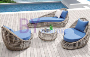 Outdoor Hand-Weaving Villa Balcony Outdoor Leisure PE Rattan Sofa pictures & photos