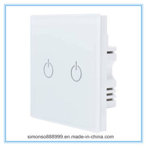 Factory Customizing 2-Gang Energy-Saving Crystal Toughened Glass Energy-Saving Switch pictures & photos