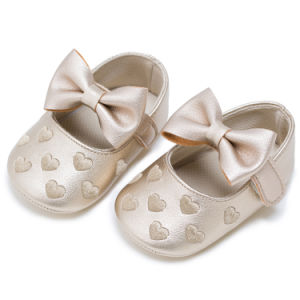 Wholesale Embroidered Toddler Shoes Soft Soles Tassel Indoor Baby Shoes pictures & photos