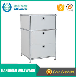 2017 New Sliding Door Stainless Panels Toy Display Steel Filing Cabinet pictures & photos