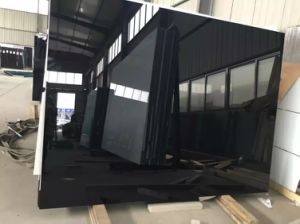 4mm Black Painted Glass for Kitchen /Bathroom / Offices pictures & photos