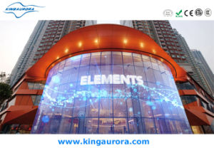 P7.8X15.6 Full Color Glass Indoor LED Display pictures & photos