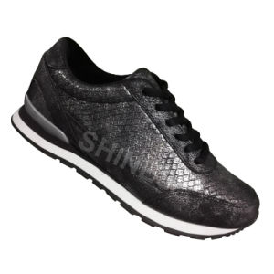Glitter Snake PU Running Shoes for Women pictures & photos