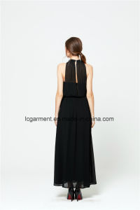 Summer New Style Sexy Chiffon Halter Neck Long Woman Dress pictures & photos