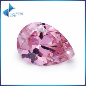 Pink Cubic Zirconia AAA Pear Shape Synthetic Zircon Gems pictures & photos