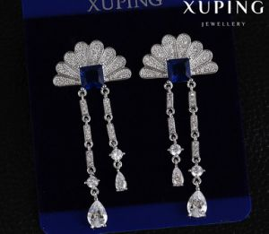 Fashion Synthetic CZ Fan Design Jewelry Earring Stud pictures & photos