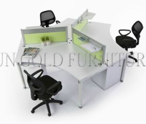 Modern Office Furniture 3 Person Office Cubicle Workstation (SZ-WS244) pictures & photos