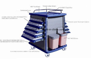 Mobile Hospital Stainless Steel Medical Trolley pictures & photos