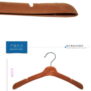 Retail Luxury Brand Custom Logo Printed Women Dress Flock Hanger pictures & photos