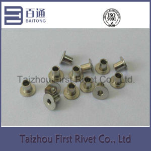 4X5mm Nickel Plated Flat Head Fully Tubular Steel Rivet pictures & photos