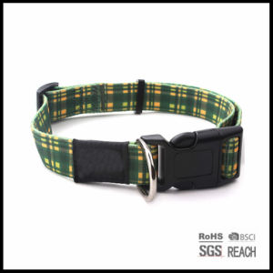 Personalised Adjustable Sublimation Printed Pet Dog Collar Woven Label pictures & photos