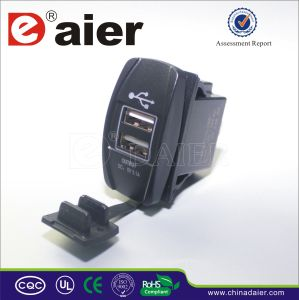 Daier USB Electrical Power Car Power Socket (DS2013-L) pictures & photos