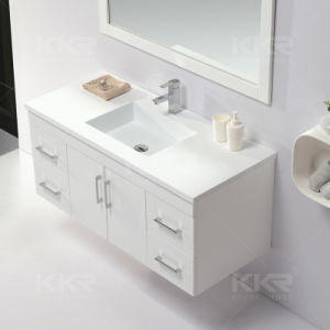 Kkr Modern Acrylic Solid Surface Bathroom Vanity MDF pictures & photos