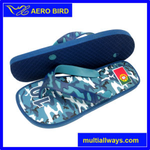 Camo Pringting PE Slippers with for Male (T16119) pictures & photos