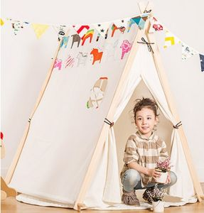Cotton Canvas Wood Poles Kids Play Rooms Teepee Play Tent pictures & photos