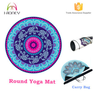 New Designed Eco Friendly Round Yoga Mat with Sling Bag pictures & photos