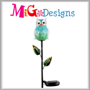 Cute Glass Owl Solar Light LED Garden Metal Wholesale pictures & photos