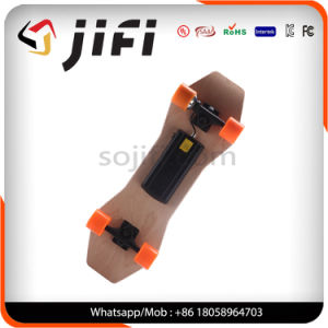 off Road Four Wheels Powered Electric Maple Wooden Skateboard with Remote Control pictures & photos