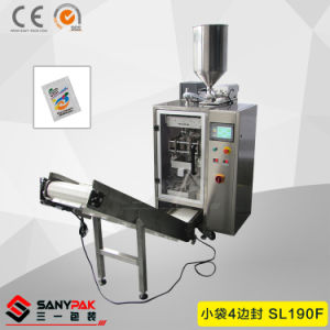 Milk/Sugar/Tea/Coffee/Ketchup Three/Four Side Seal Pouch Packing Machine pictures & photos