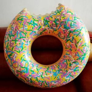 Inflatable PVC Water Colorful New Donut Pool Float Swimming Ring pictures & photos