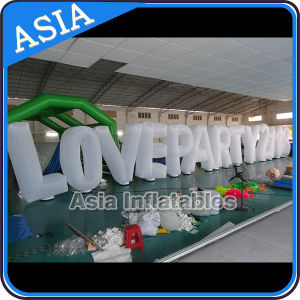 Popular Advertising Inflatable Decoration, Inflatable Illumination Letter, Alphabet with LED Bulb pictures & photos