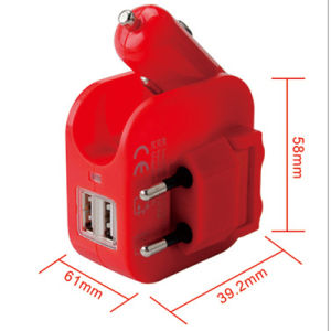 Universal 2.1A Dual EU Plug Wall Charger Car Charger pictures & photos