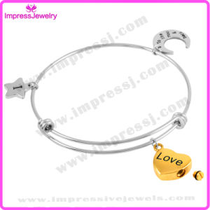 Stainless Steel Bracelet Femme Bangles with Gold Plating Charms pictures & photos