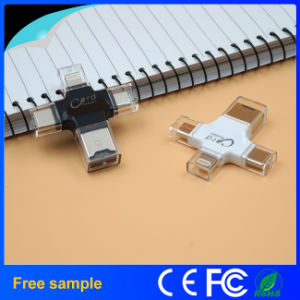Factory Price 4 in 1 Type-C USB Memory Card Reader pictures & photos
