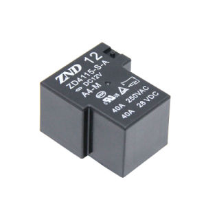 Zd4115 40A Contact Switch Power Relay for Household Appliances &Industrial Use Black Cover pictures & photos