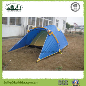 2p Double Layer 3 Poles Camping Tent with Extension pictures & photos