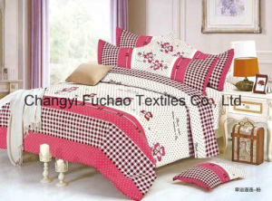 Queen Size Poly/Cotton Material Bedding Set Manufacture Disposable Bed Sheet pictures & photos