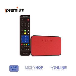 Ipremium Tvonline+ Leather Material Smart TV Set Top Box Quad Core WiFi IPTV Different From Xiaomi TV Box pictures & photos