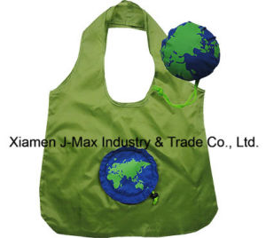 Foldable Shopper Bag, Promotion Bags, Globe Style, Reusable, Lightweight, Grocery Bags and Handy, Gifts, Promotion, Tote Bag, Decoration & Accessories pictures & photos