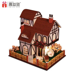 New Design Educational Kid Wooden Dollhouse pictures & photos