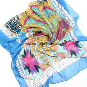 Polyester Printed Dyed Scarve (AJM60001235) pictures & photos