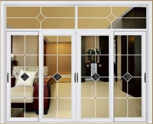 Aluminium Frame Sliding Doors with Double Glass (pH-8833) pictures & photos