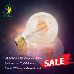 G25/G80/G95/G125 Clear Amber Vintage Light Dimmable LED Filament Bulb