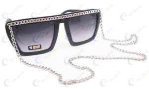Classic Sunglasses With Metal Chain (02346)