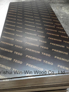 Tego/Plywood WBP Phenolic Glue+Hardwood Core+Dynea Brown Film CE Fsc Carb pictures & photos
