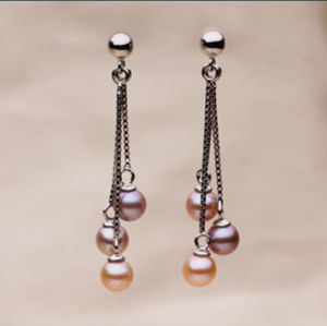 Fashion Round Fresh Water Pearl Earrings pictures & photos