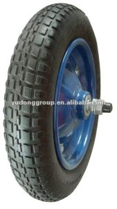 Supply PU Foam Polyurethane Foam Wheelbarrow Tire /Rubber Wheel 3.25-8 pictures & photos
