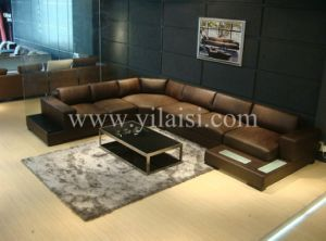 Corner Leather Sofa (T116)