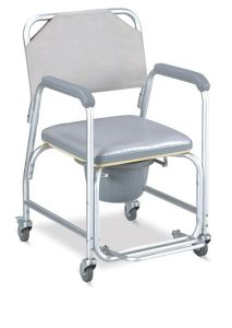 Aluminum Commode Chair with Foldable Footrest (SC-CC13(A)) pictures & photos