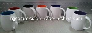 Barrel Shaped Mug, Inside Color Outside White Color Mug pictures & photos