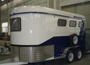 3 Horse Trailers Angle Load Blue Color Deluxe (GW-3HAL) 3horse Float pictures & photos